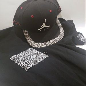 Jordan Pocket Tee 3x & Velcro back Hat blk